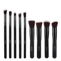 Abody 9PCs Makeup Brushes, Premium Cosmetic Brushes Set, Foundation Brush Blending Face Powder Blush Concealers Eye Shadows Professional Make Up Brushes Kit (Black)