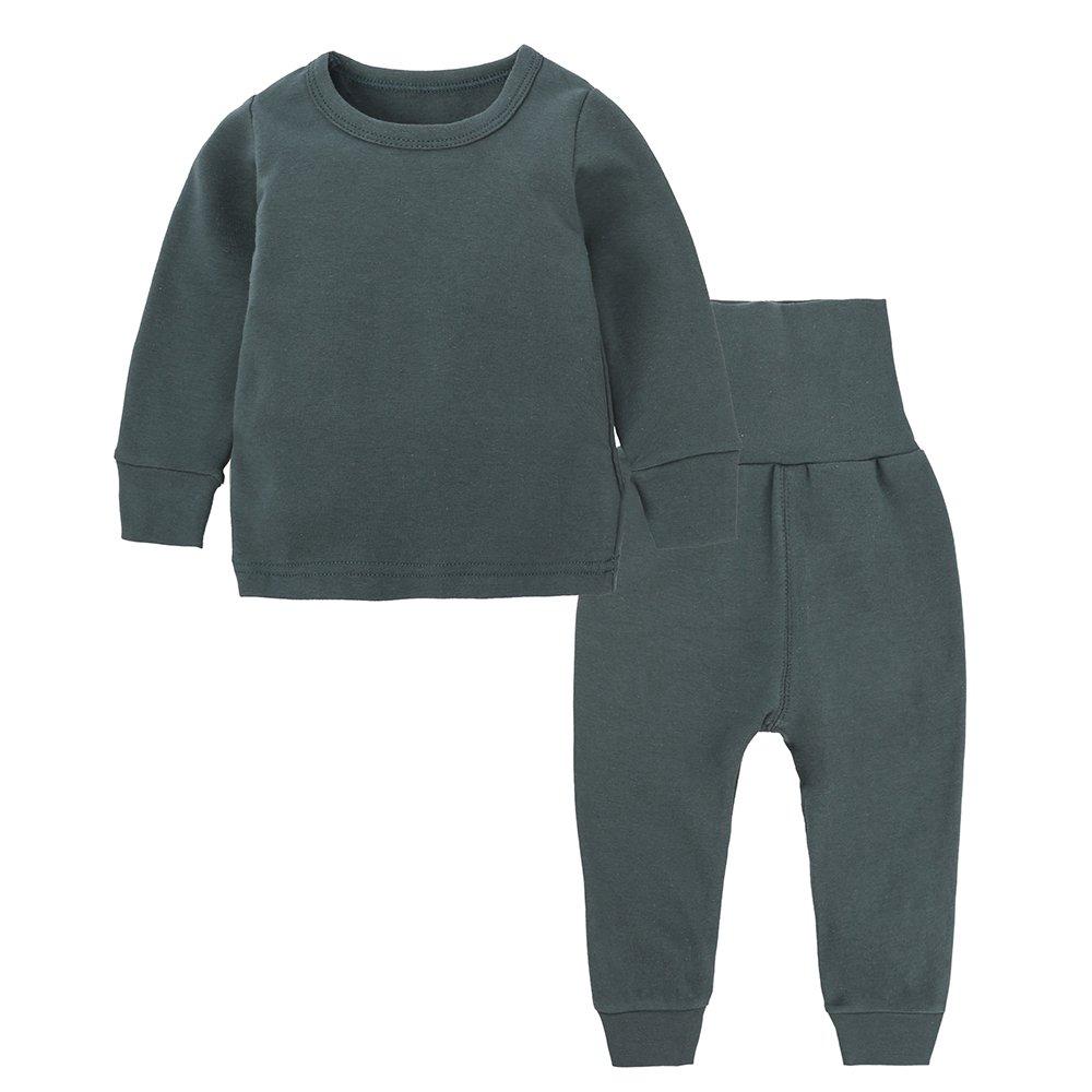 Kids Tales Little Boys&Girls 2 Pcs Solid Pajama Set Cotton Underwear(3M-14Years)