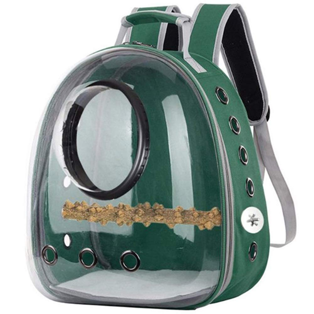 Shiningirl Pet Parrot Cat Dog Carrier Backpack Space Capsule Bubble Transparent 360¡ã Sightseeing Backpack Birds Travel Cage with Stand Perch for Hiking Walking Outdoor Use 12.2 x 11.02 x 16.14in