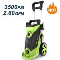 Homdox 3500 PSI Pressure Washer, Power Washer, 2.6GPM High Pressure Washer, Professional Washer Cleaner Machine