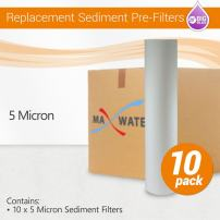 """5 Micron 20"""" Big Blue Sediment Water Filter Replacement Cartridge   Whole House Sediment Filtration   (10 Pack)"""