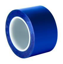 """3M 8905 '3/4-10-8905' Blue Polyester/Silicone Adhesive Tape, 400 degrees F, 10 yds Length, 0.75"""" Width ( 1 roll)"""