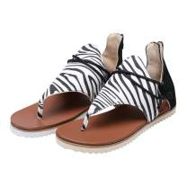 Cathego Flip Flop Sandals for Women, W1ngss Women's Retro Flat Sandals with Zipper on The Back