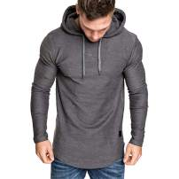 Cot-Oath Mens Workout Sweatshirt Athletic Hoodies - Fashion Sweatshirts Workout Hoodies for Men Solid Color Pullover