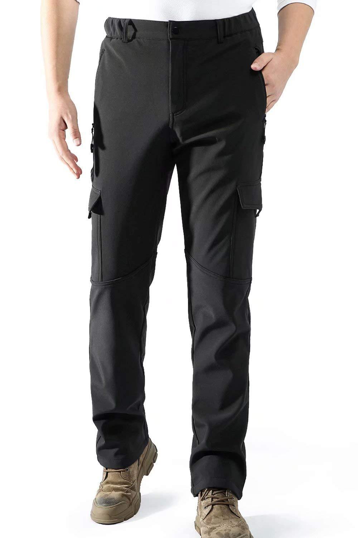 aoli ray Cargo Pants Elastic Waist Men Relaxed Fit Zipper Pockets Waterproof