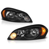 VIPMOTOZ Black Housing OE-Style Headlight Headlamp Assembly For 2006-2013 Chevy Impala, Limited Model & Monte Carlo, Driver & Passenger Side
