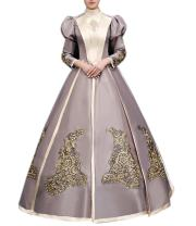 Ladies Medieval Renaissance Victorian Dresses Masquerade Costumes Queen Ball Gown