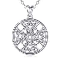 Cross Necklace for Women Men, 925 Sterling Silver Tiny Celtic Knot Cross Infinity Pendant Necklace Simple Cross Necklaces, AEONSLOVE Good Luck Gifts for Women Men Boys Girls