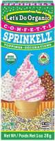 Let's Do...Organic Sprinkelz Organic Confetti, Gluten Free, 1 ounce Box (Pack of 12)