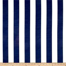 Richloom Fabrics Solarium Outdoor Classic Stripe Fabric by The Yard, Navy