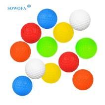 SOWOFA Golf Balls Kits Accessory Game Toy Balls Indoor Outdoor Practice Balls for Kids Children Golfer Toddler of PP 10 Packs (Colors)