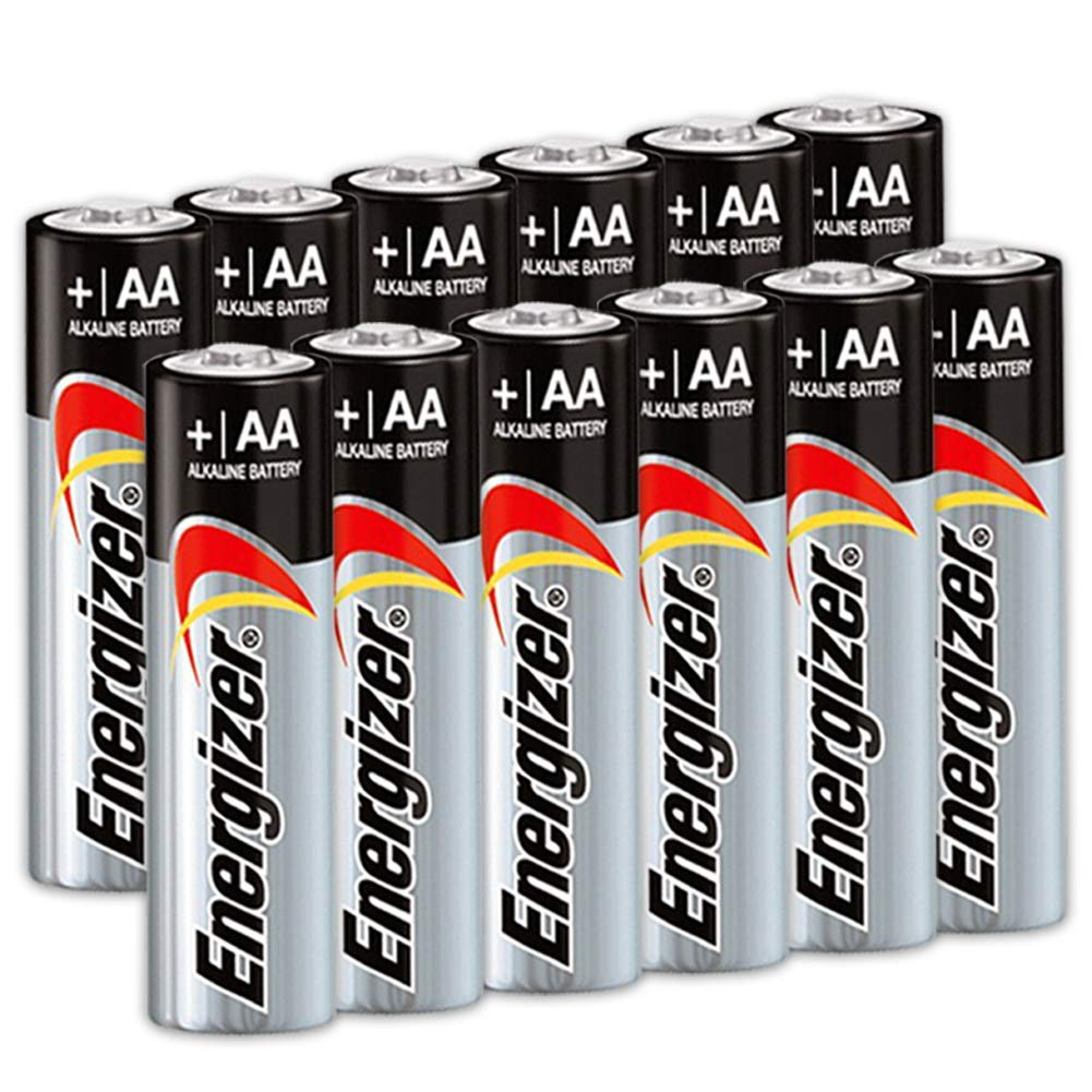 12 Count Energizer AA Batteries, Triple A Battery Max Alkaline, Long Lasting, Leak Resistant, The Perfect Choice of Power for All AA Battery Operated Devices