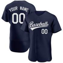 Custom Embroidered Baseball Jerseys for Team&Player,Short Sleeve Sport Shirts Button Down with Name Number