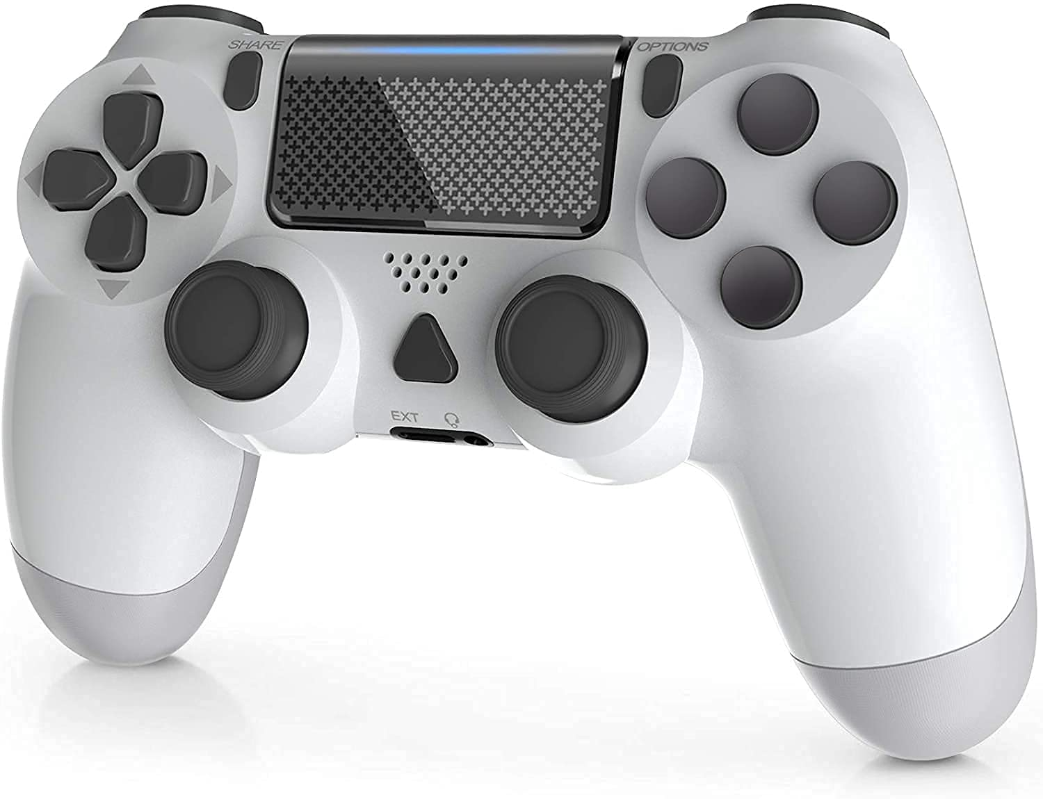 YAEYE Wireless Controller for PS-4, 1000mAh PS-4 Gamepad Joystick for PS-4/Pro/Slim Console with Dual Vibration Bluetooth Connection and 6-axis Gyro Sensor Touchpad (White)