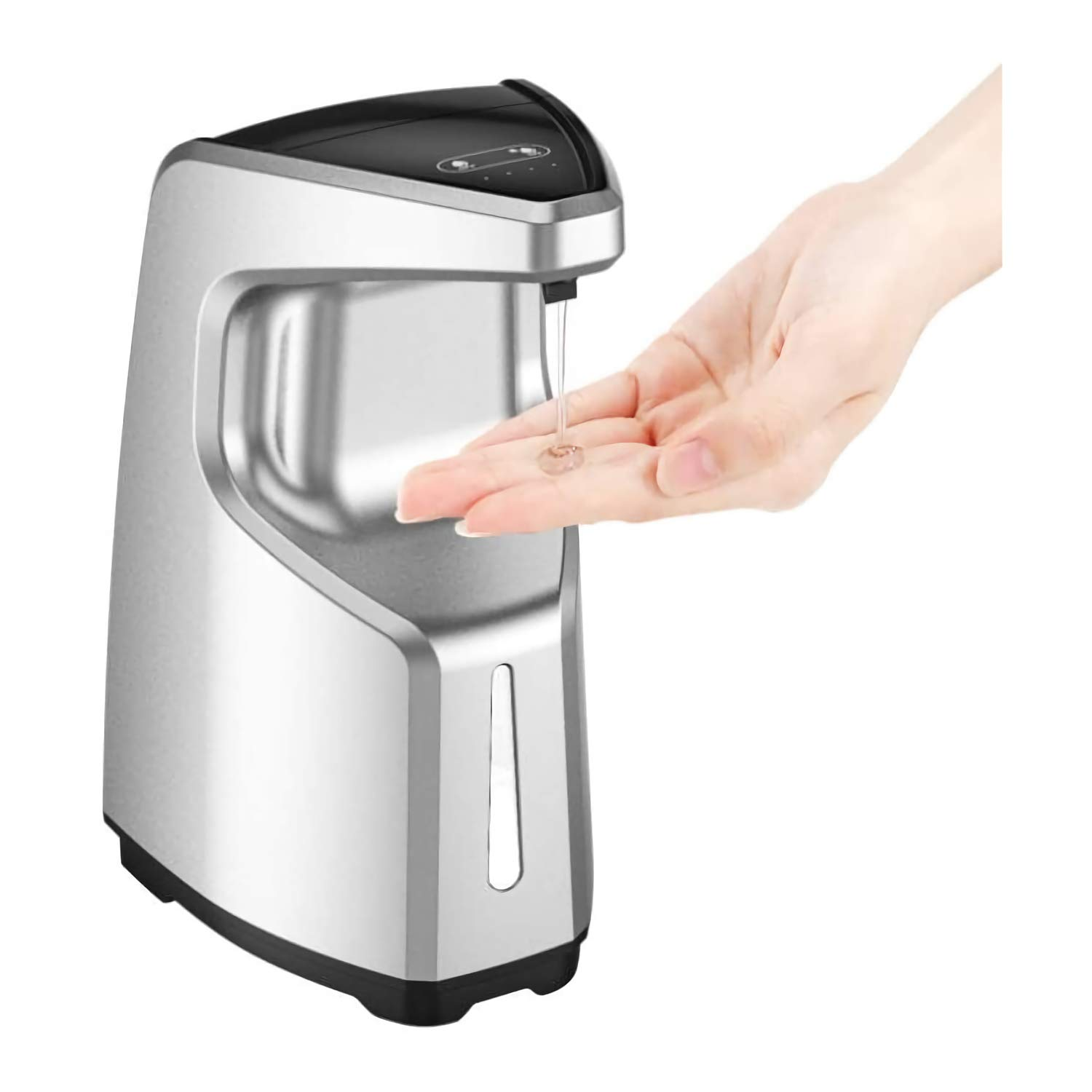 Touchless Automatic Sensor Soap Dispenser on Countertop/Wall Mounted for Kitchen/School/Hospital/Airport,SADALAK 4 Modes 450ml IPX6 Waterproof and Adjustable Volume Commercial Hand Free Soap Dispenser