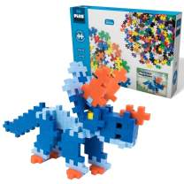 PLUS PLUS Big - Instructed Playset - Mega Maker Triceratops - Construction Building STEM | STEAM Toy, Interlocking Large Puzzle Blocks for Toddlers and Preschool
