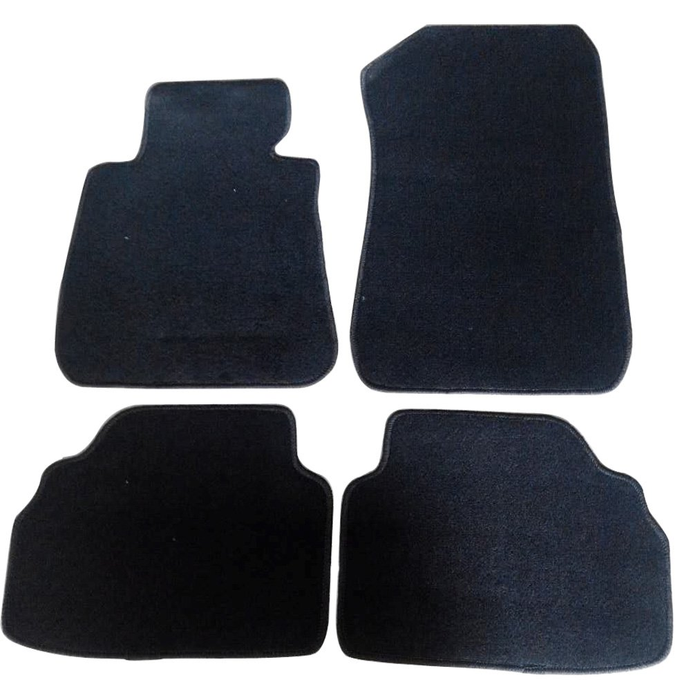 Floor Mat Compatible With 2005-2011 BMW E90 3 Series | Factory Fitment Car Front & Rear Nylon Car Floor Carpets Carpet liner by IKON MOTORSPORTS | ?2006 2007 2008 2009 2010