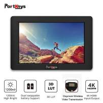 PortKeys HH7 7 Inch 1920x1200 On Camera Field Monitor 1200 Nit with HLG/3D LUT,4K HDMI In/Out Put,Support Wireless Claymore,Dual Swappable Battery Supply