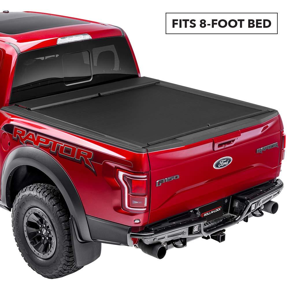 Roll N Lock M-Series Retractable Truck Bed Tonneau Cover | LG222M | Fits 2014 - 2018, 19 Ltd./Lgcy. GM/Chevy Silverado/Sierra 8' Bed