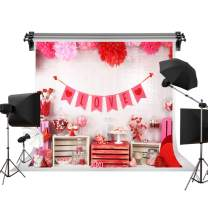 Kate 7x5ft/2.2m(W) x1.5m(H) Valentine's Day Backdrop Red Love Background Candies Sweets Backdrop Photo Booth Decorations Photo Studio Newborn Baby Portrait Props