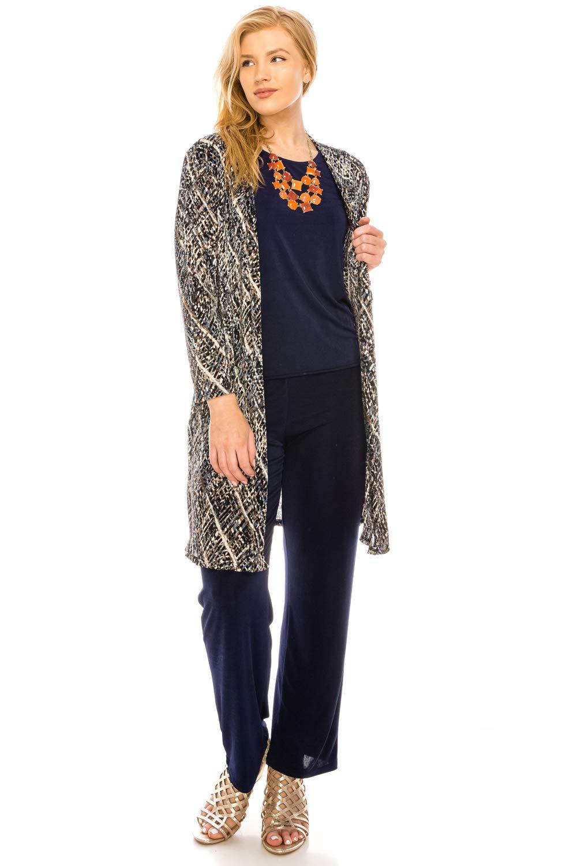 Jostar Women's Bodre Duster Jacket Quarter Sleeve Print