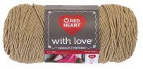 Red Heart With Love Yarn, Tan