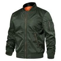 TACVASEN Men's Jackets-Windproof Slim Fit Flight Bomber Jacket Winter Warm Padded Coats Outwear