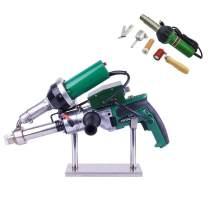1600W Hand Extrusion Welder Gun Plastic Handheld Extruder Welding Gun PP HDPE LDPE Pipe Welding Machine Heat Air Gun Kit (220V Extruder+110V heat gun)