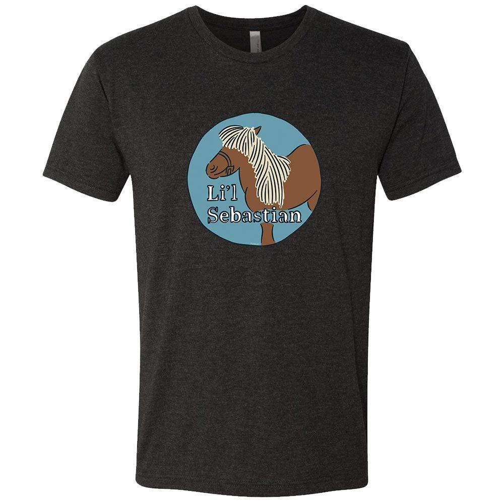 Parks and Recreation Li'l Sebastian Caricature Men's Tri-Blend Short Sleeve T-Shirt