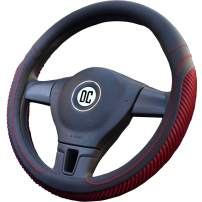 DC Steering Wheel Cover Microfiber Leather, Anti-Slip, Odorless, Universal 15inch/38cm