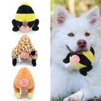FRANKIEZHOU Dog Squeaky Toys Stuffed Plush Pets Toys Funny Bums Animals Assortment Soft Cozy Cuddling Dog Toys
