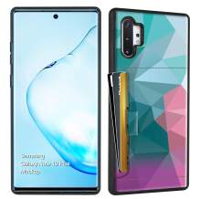 ZVE Samsung Galaxy Note 10 Plus Case Wallet Case with Credit Card Holder Slot Slim Leather Pocket Print Protective Case Cover for Samsung Galaxy Note 10 Plus 5G 6.8 inch (2019) - Diamond