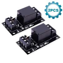 ICStation 1CH DC 3V 3.3V Relay Power Switch Module with Optocoupler High Level Trigger for ESP8266 Development Board Arduino(Pack of 2)