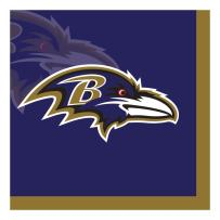 Creative Converting Officially Licensed NFL Paper Beverage Napkins, 192-Count, Baltimore Ravens