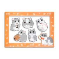 Fridge Magnets Fridge Stickers,Hamster Refrigerator Magnets, Pattern Decoration Kitchen Magnets,Small Funny Magnets for Home School Classroom Whiteboard Office Coffee Shop Message(5pcs Hamster)