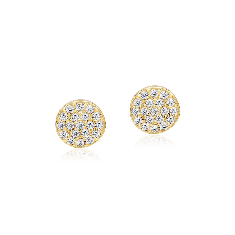 925 Sterling Silver CZ Cubic Zirconia Dainty Bezel Set Minimalist Stud Earrings for Woman Girls Unisex
