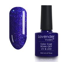 Nail Gel Polish Soak off Varnish 8ml Glitter Blue