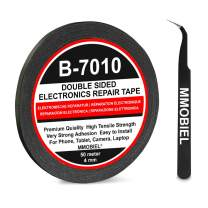 MMOBIEL 4 mm Double Sided Layer Strong Adhesive Tape 50 m Long Roll (Black) for Smartphone Tablet Repair