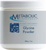 Metabolic Maintenance Glycine Powder - Pure 500 Milligrams Amino Acid Sleep + Detox Support (200 Grams, 200 Servings)