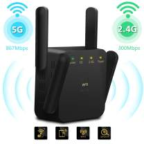 WiFi Range Extender 1200Mbps Wireless Signal Booster for House 2.4 & 5GHz Dual Band Internet Repeater with Access Ethernet Port,Extends Wi-Fi Coverage,Access Point