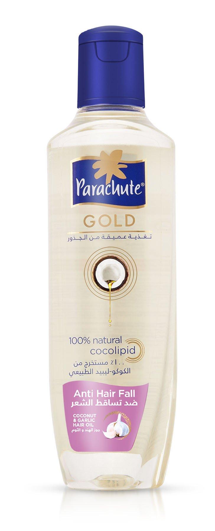 Parachute Gold Hair Oil Anti Hair Fall - 6.8 fl.oz. (200ml) - Coconut & Garlic Hair Care Oil