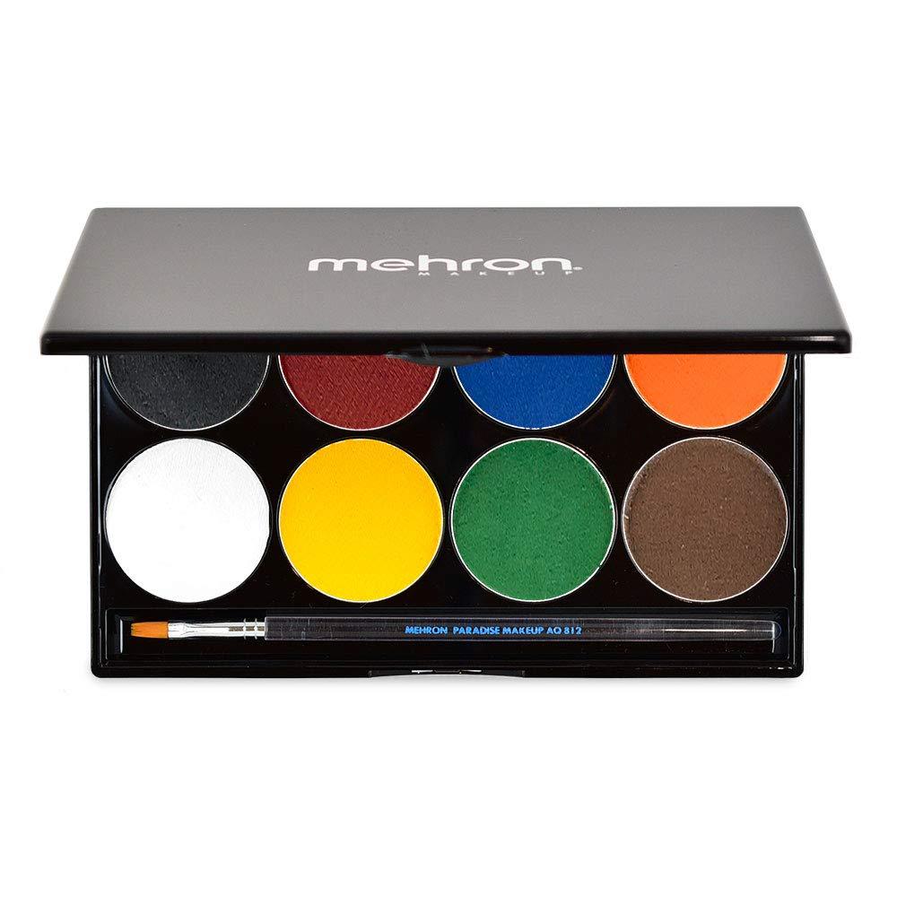 Mehron Makeup Paradise AQ Face & Body Paint 8 Color Palette (Basic)