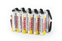 Tenergy Rechargeable AA NiCD Battery, 1000mAh High Capacity Batteries Flat Top with Tabs for Shavers, Trimmers, Razors