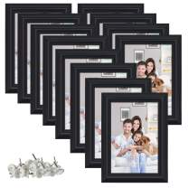 PETAFLOP 12 Pack 4x6 Picture Frame Wall and Tabletop Photo Frames