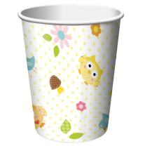 8-Count 9-Ounce Hot/Cold Beverage Cups, Happi Tree Sweet Baby