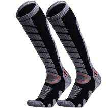 WEIERYA Ski Socks 2 Pairs Pack for Skiing, Snowboarding, Cold Weather, Winter Performance Socks