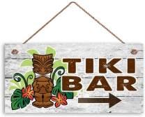 MAIYUAN Tiki BAR Sign, Beach Weathered Wood, 12x6 Sign, Hawaiin Party Sign, Beach House, Summer Days, Cocktails(KH2549)
