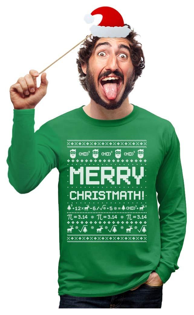 Merry Christmath Funny Math Ugly Christmas Sweater Long Sleeve T-Shirt