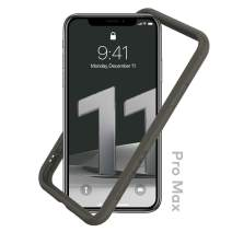 RhinoShield Bumper Case Compatible with [iPhone 11 Pro Max] | CrashGuard NX - Shock Absorbent Slim Design Protective Cover 3.5M / 11ft Drop Protection - Graphite