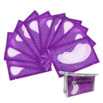 100 Pairs Eyelash Extension Gel Patches, Lash Extensions Lint Free Hydrogel Under Eye Pads Beauty Eye Mask supplies(purple)